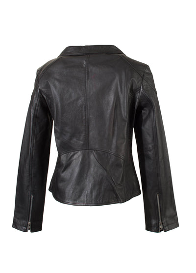 Wendy - Ladies Leather Biker Jacket