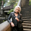 Lizzie - Ladies Distressed Leather Biker Jacket