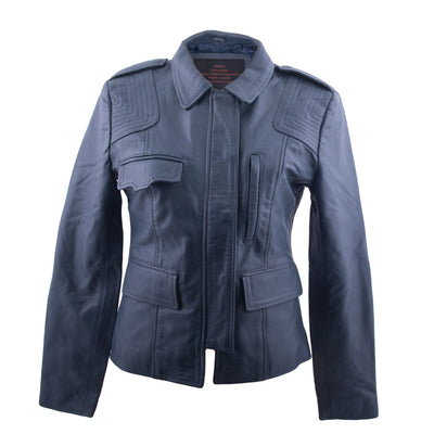 Marcie - Ladies Leather Trucker Jacket
