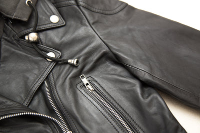 Mandy - Hooded Leather Jacket