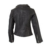 Lizzie - Ladies Single Distressed Leather Biker Jacket