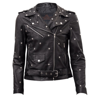 Suzi - Ladies Belted Leather Jacket with options