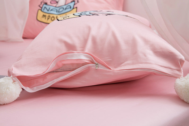RainbowSleep™ Unicorn Queen and King Sheets Set 4 Pieces (Bed-In-A-Bag)