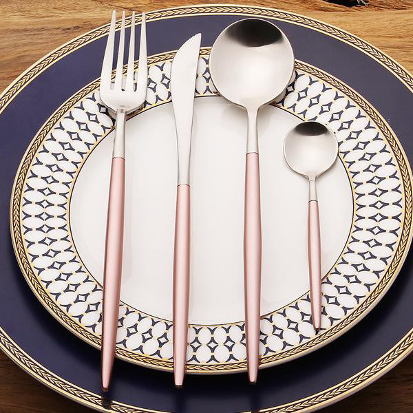 SpacePink™ - Premium Stainless Steel 18/10 Silverware Set