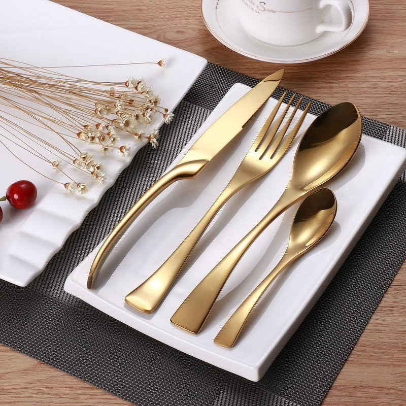 JetGold™ - Premium Stainless Steel Gold Silverware Set (8 / 16 / 24 Pieces)