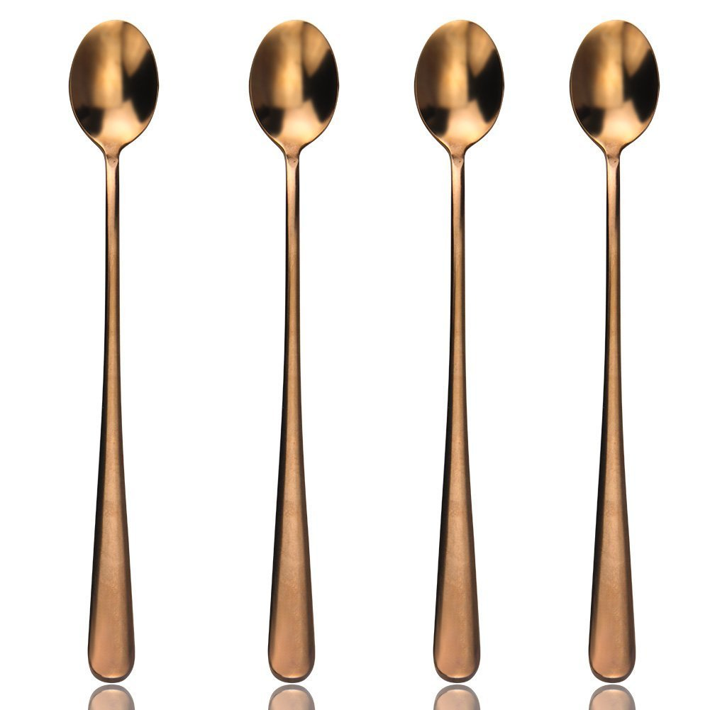 RoseTea™ - Premium Stainless Steel Rose Gold Iced Tea Spoons Set