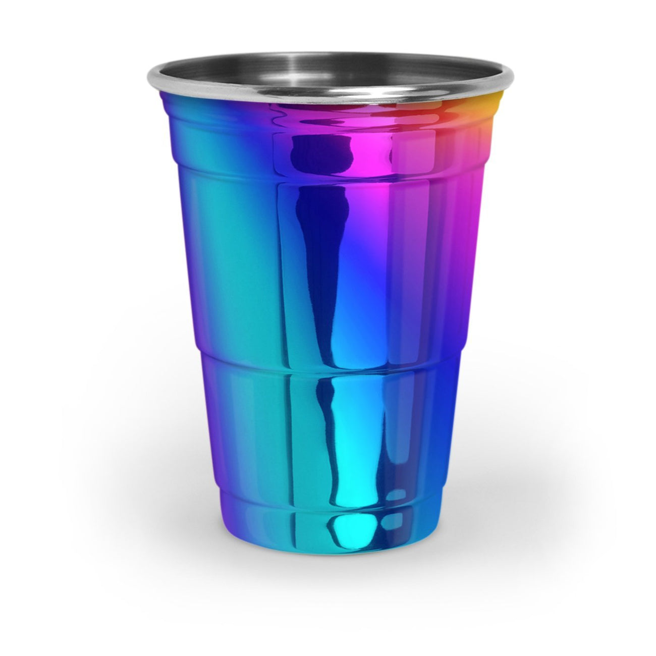 PartyRainbow™ - Premium Rainbow Iridescent Stainless Steel Party Cup