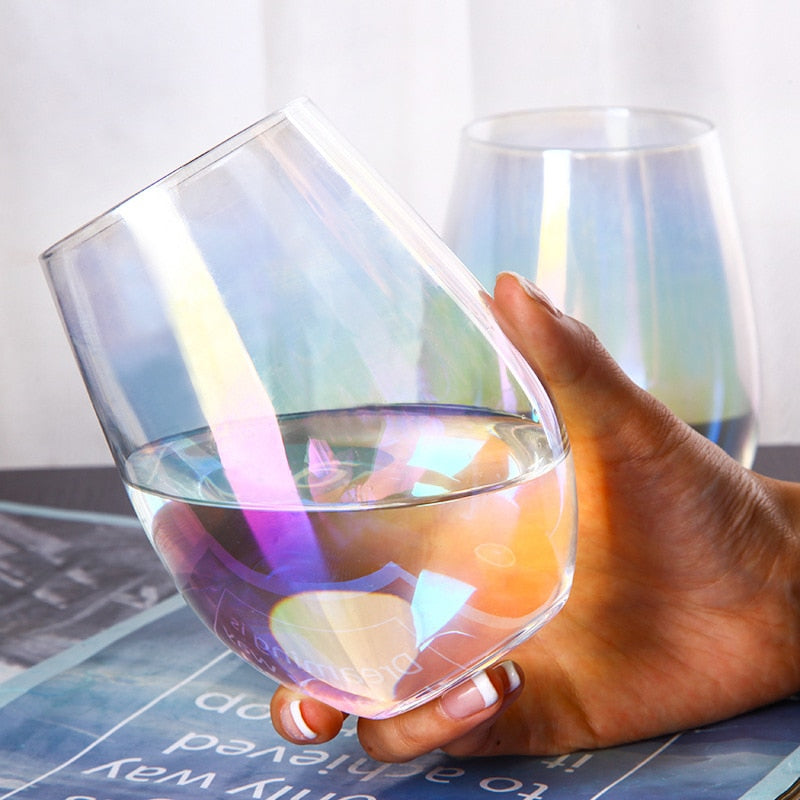GlassRainbow™ - Premium Rainbow Iridescent Crystal Water Glasses
