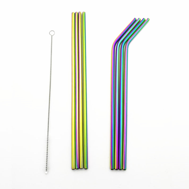StrawRainbow™ - Rainbow Iridescent Stainless Steel Party Straws