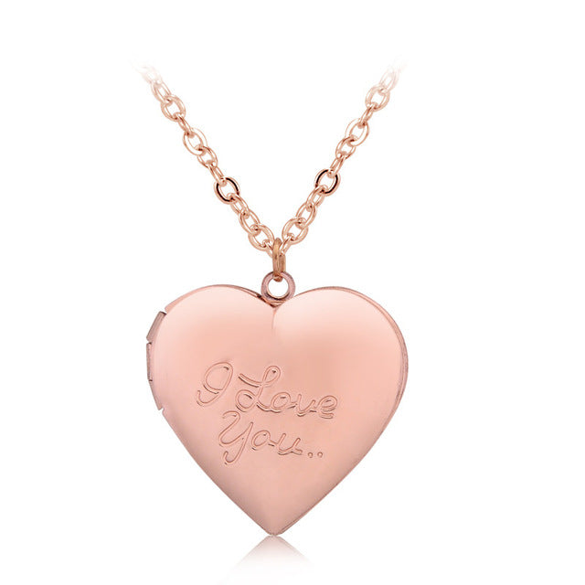 LoveLocket™ - Simple Small Necklace with Heart Locket, Wedding Long Heart Pendant, Short Necklace Delicate Locket Gold Chain