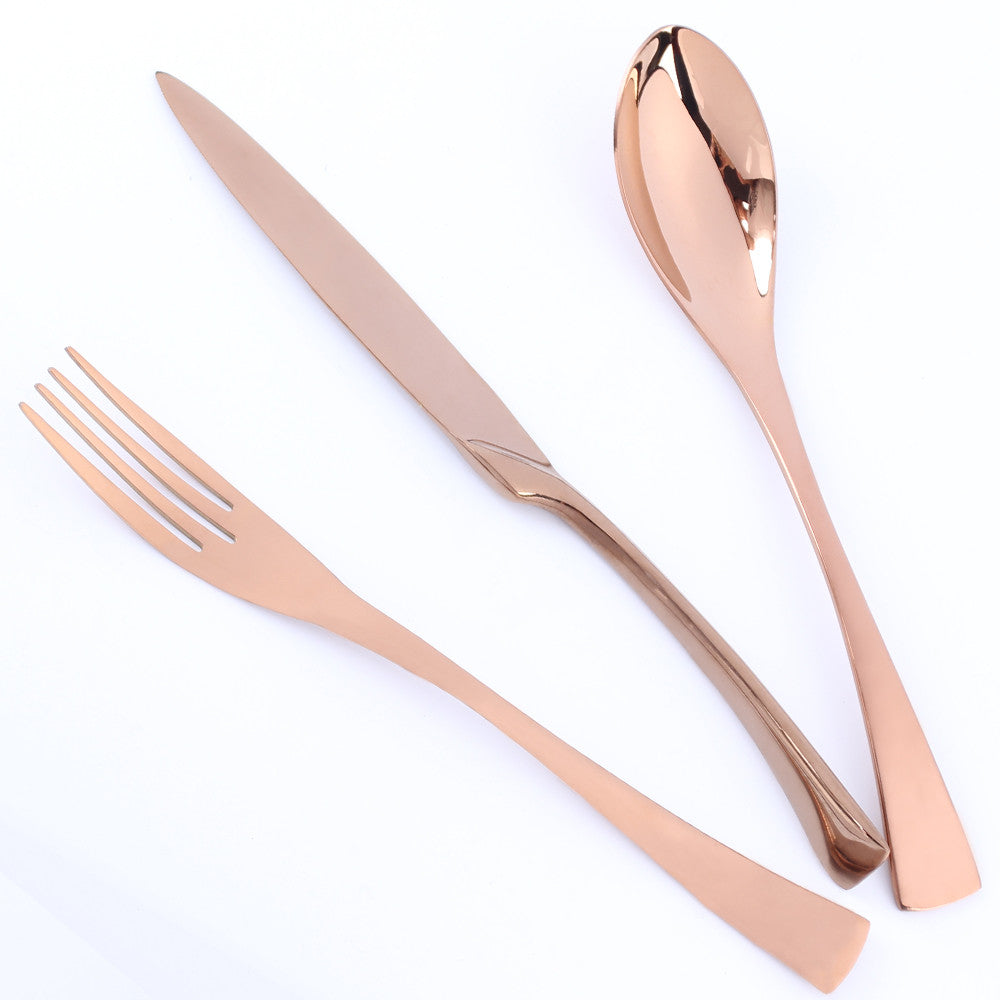 JetRose™ - Premium Stainless Steel Rose Gold Silverware Set (4 / 8 / 16 / 24 Pieces)