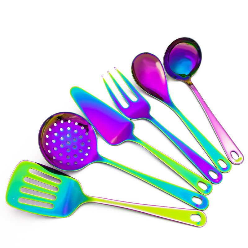 ServRainbow™ - Premium Stainless Steel Rainbow Kitchenware Serving Set