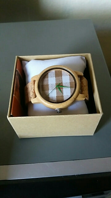 GoBamboo™ Quartz Bamboo Watch With Fabric Dial