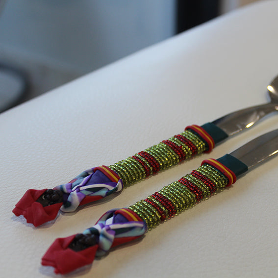 Handcrafted Beaded Salad Servers