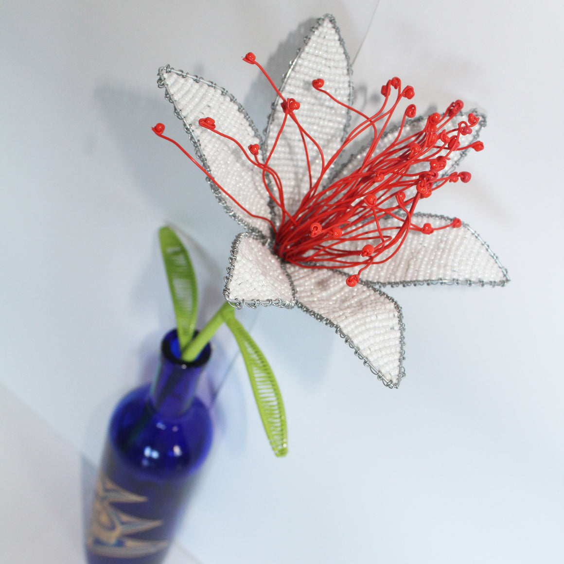 White Beaded Tiger Lily