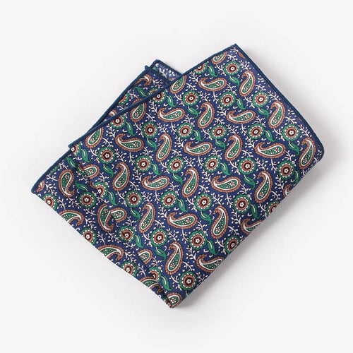 The Manhattan Paisley Pocket Square N°9 by SCOTCH & TIES