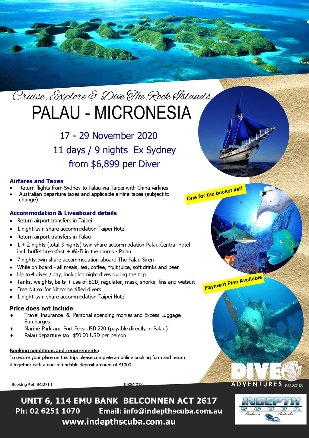 Dive Palau, Micronesia - 17th to 29th November 2020