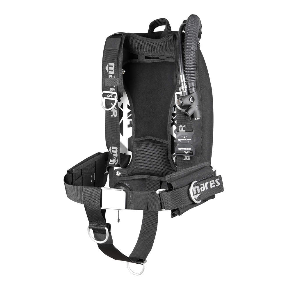 Mares XR-REC Silver Single Backmount Set