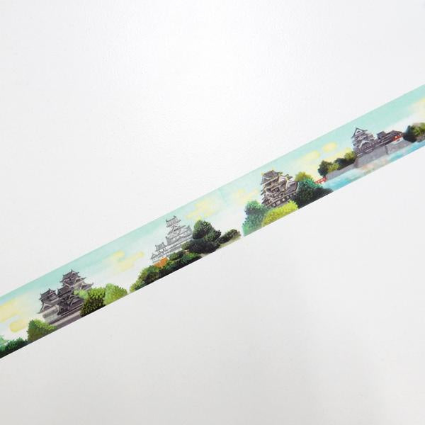 Masking Tape - ROUND TOP, Castles of Japan, 20mm x 5m