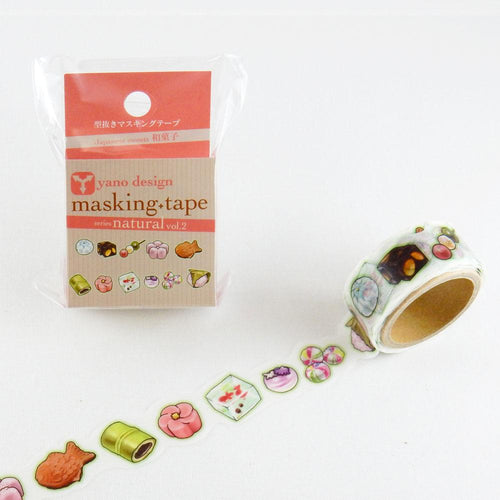 Masking Tape - ROUND TOP, 和菓子 (Japanese Sweets), 20mm x 5m