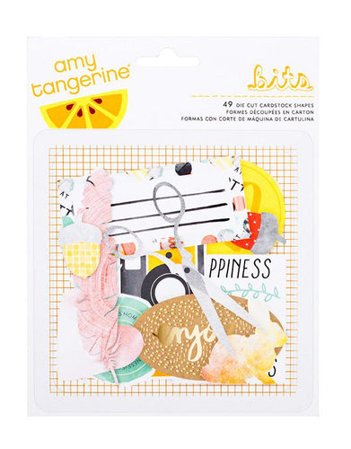 Embellishments - Amy Tangerine, Stitched, Cardstock Die Cuts - KEY Handmade