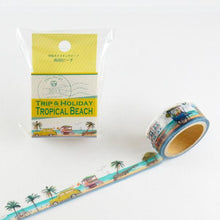 Masking Tape - ROUND TOP, Tropical beach, 20mm x 5m