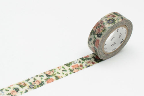 Masking Tape - mt ex, Mini Flower Botanical Art, 15mm x 10m - KEY Handmade  - 1