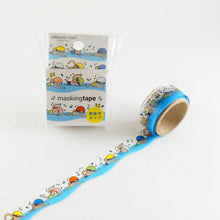 Masking Tape - ROUND TOP, Swimming, 20mm x 5m - KEY Handmade  - 2