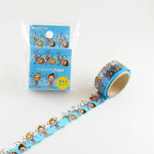Masking Tape - ROUND TOP, Synchronized Swimming, 20mm x 5m - KEY Handmade  - 3