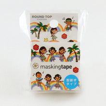 Masking Tape - ROUND TOP, Hula Dance, 20mm x 5m - KEY Handmade  - 2