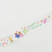 Masking Tape - ROUND TOP, Happy Wedding, 20mm x 5m - KEY Handmade  - 1