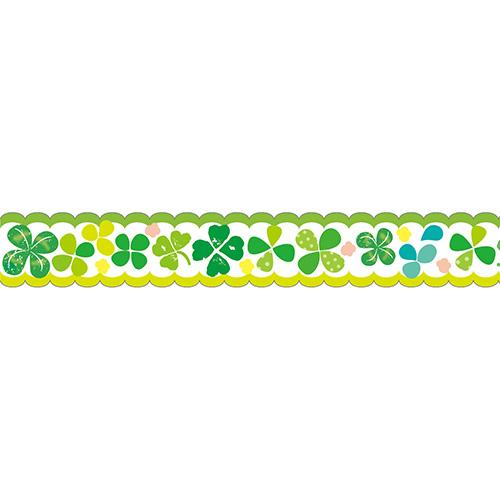 Masking Tape - Nami-Nami Masking Tape, Illustration clover, 15mm x 10m