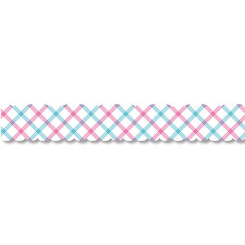 PINE BOOK Assorted Style Nami-Nami Masking Tape, Emerald Check