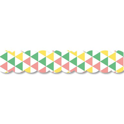 PINE BOOK Assorted Style Nami-Nami Masking Tape, Yellow Triangle