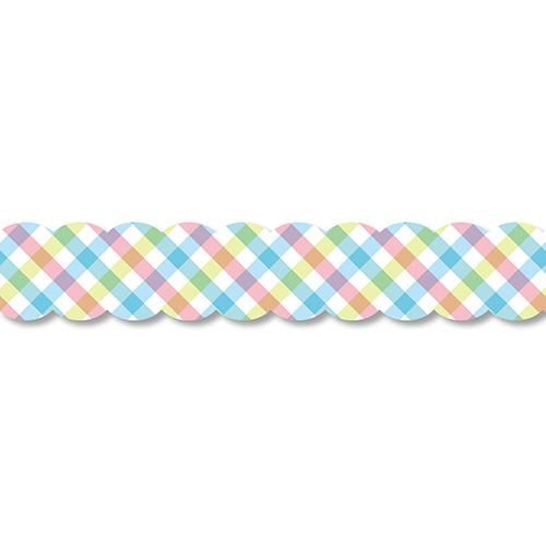 PINE BOOK Assorted Style Nami-Nami Masking Tape, Emerald Gingham