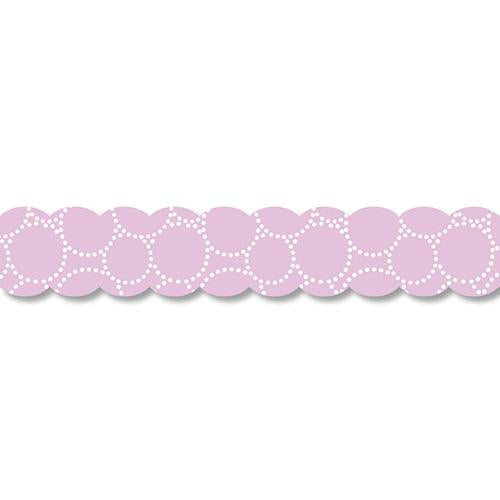 PINE BOOK Assorted Style Nami-Nami Masking Tape, Purple Circle
