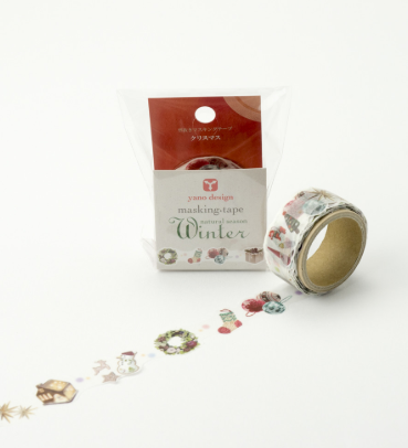 Masking Tape - ROUND TOP, Christmas, 20mm x 5m