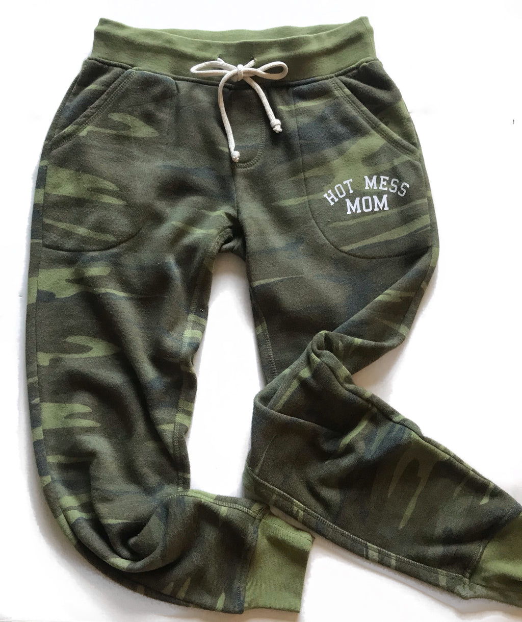 Hot Mess Mom Camo Sweatpants