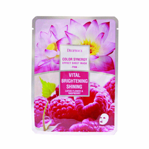 DEOPROCE Color Synergy Effect Sheet Mask - Pink (Lotus Flower & Rasberry)