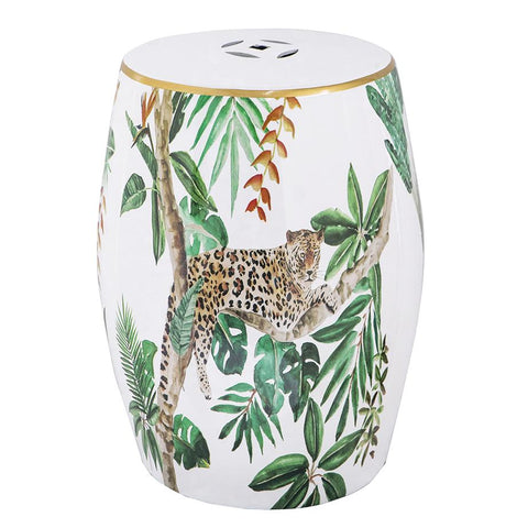 LEOPARD CERAMIC STOOL Philbee Interiors