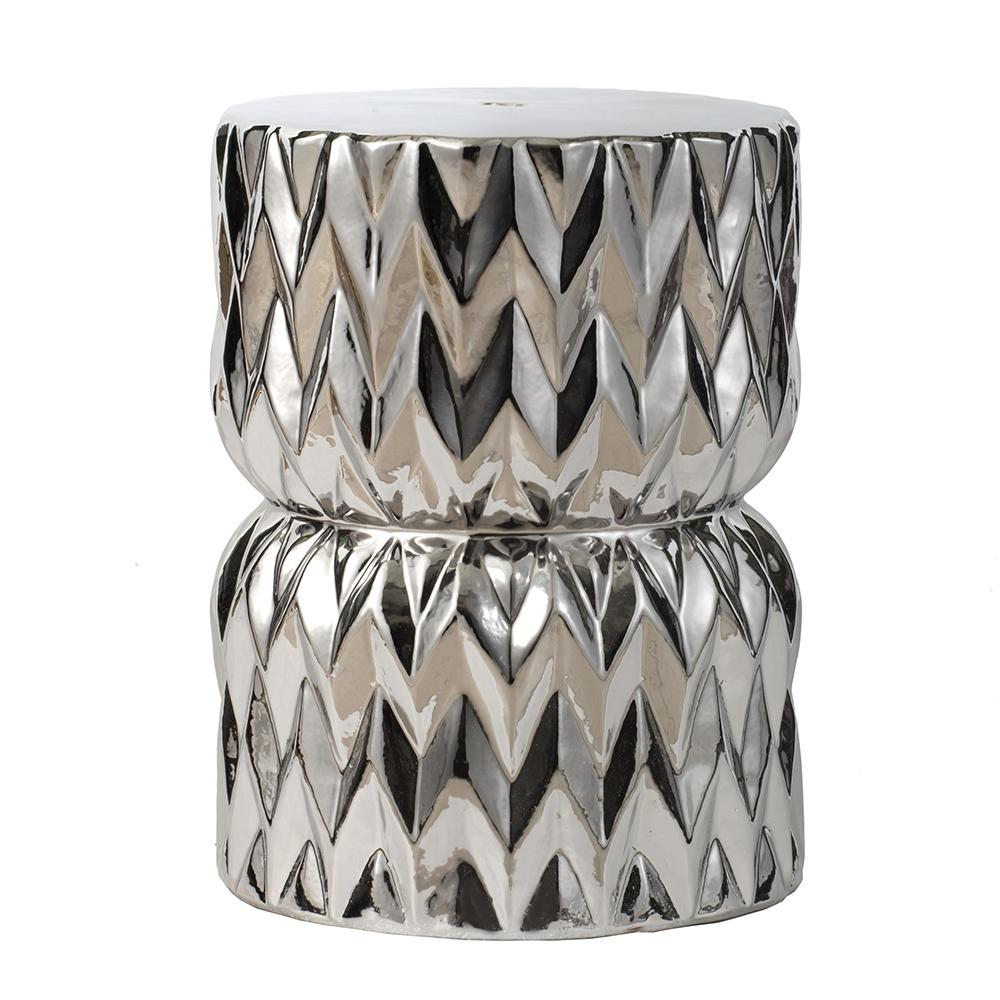 DIAMOND CERAMIC FOOT STOOL Philbee Interiors