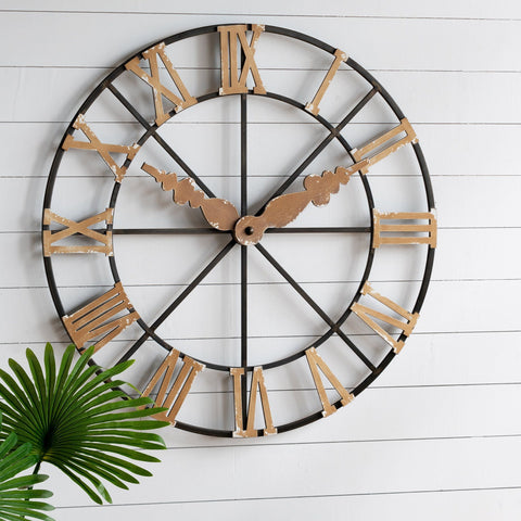 STUCK IN TIME FAUX WALL CLOCK Philbee Interiors