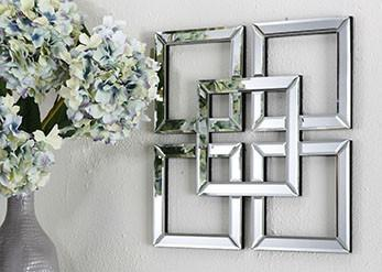 SYMMETRY MIRRORED WALL ART Philbee Interiors
