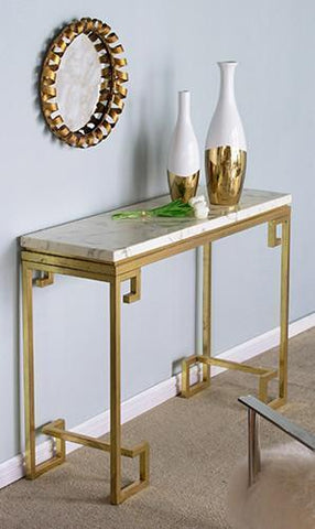 MARBLE SIDEBOARD GOLD - Philbee  Interiors