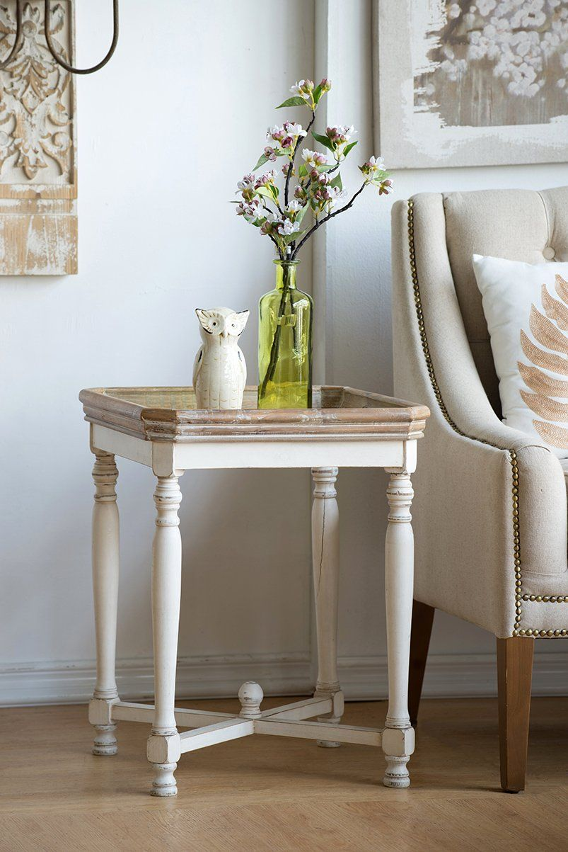 SHABBY SQUARE SIDE TABLE Philbee Interiors