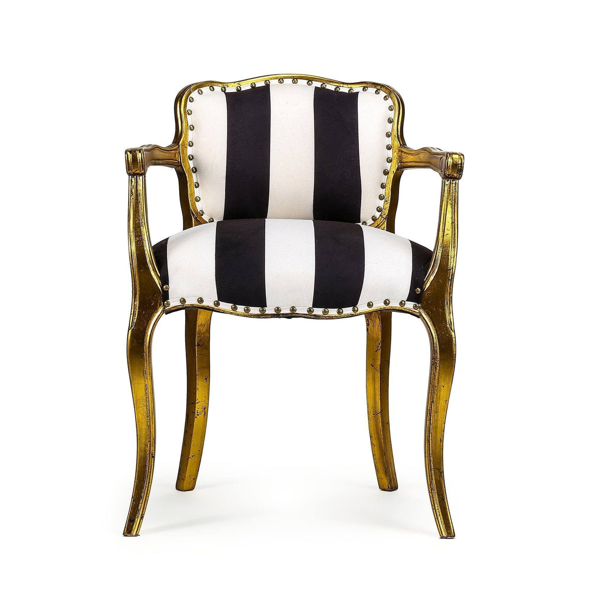 STRIPED WINGED ARM CHAIR Philbee Interiors
