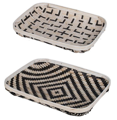 SET/2 ORGANIC ELEMENTS TRAYS Philbee Interiors