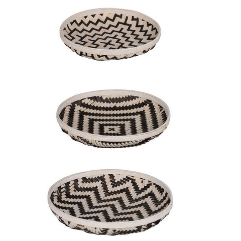 SET/3 ORGANIC ELEMENTS TRAYS Philbee Interiors
