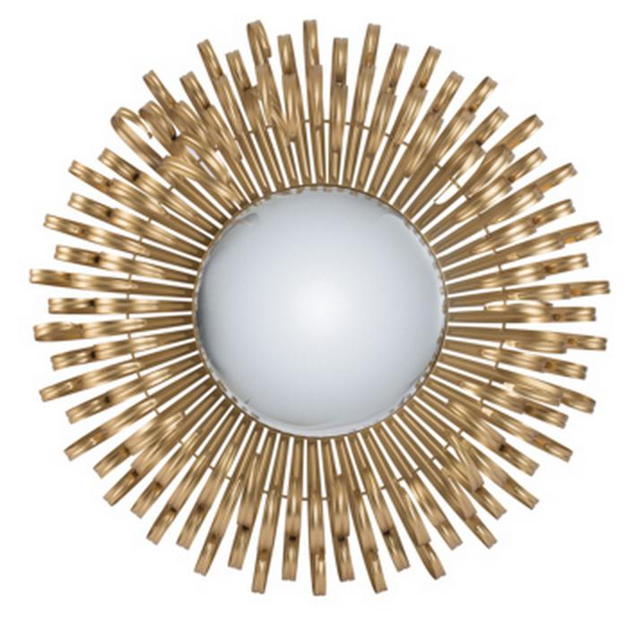 GOLD SUNBURST MIRROR Philbee Interiors