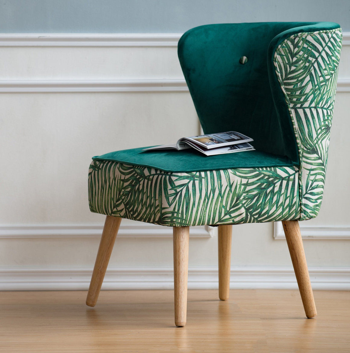 ARMLESS GREEN FERN CHAIR Philbee Interiors